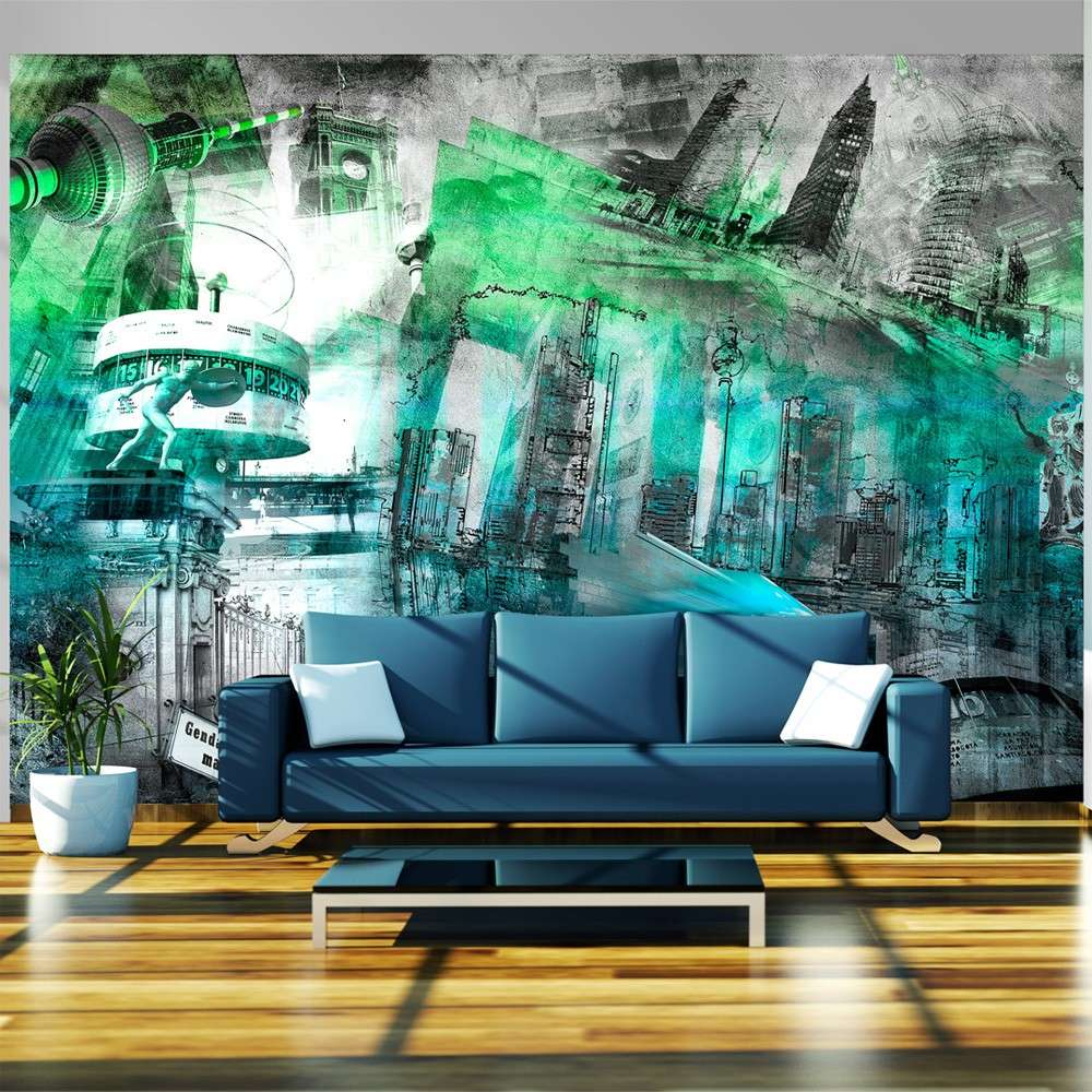 Fototapeta  Berlin  kolaż (zielony)