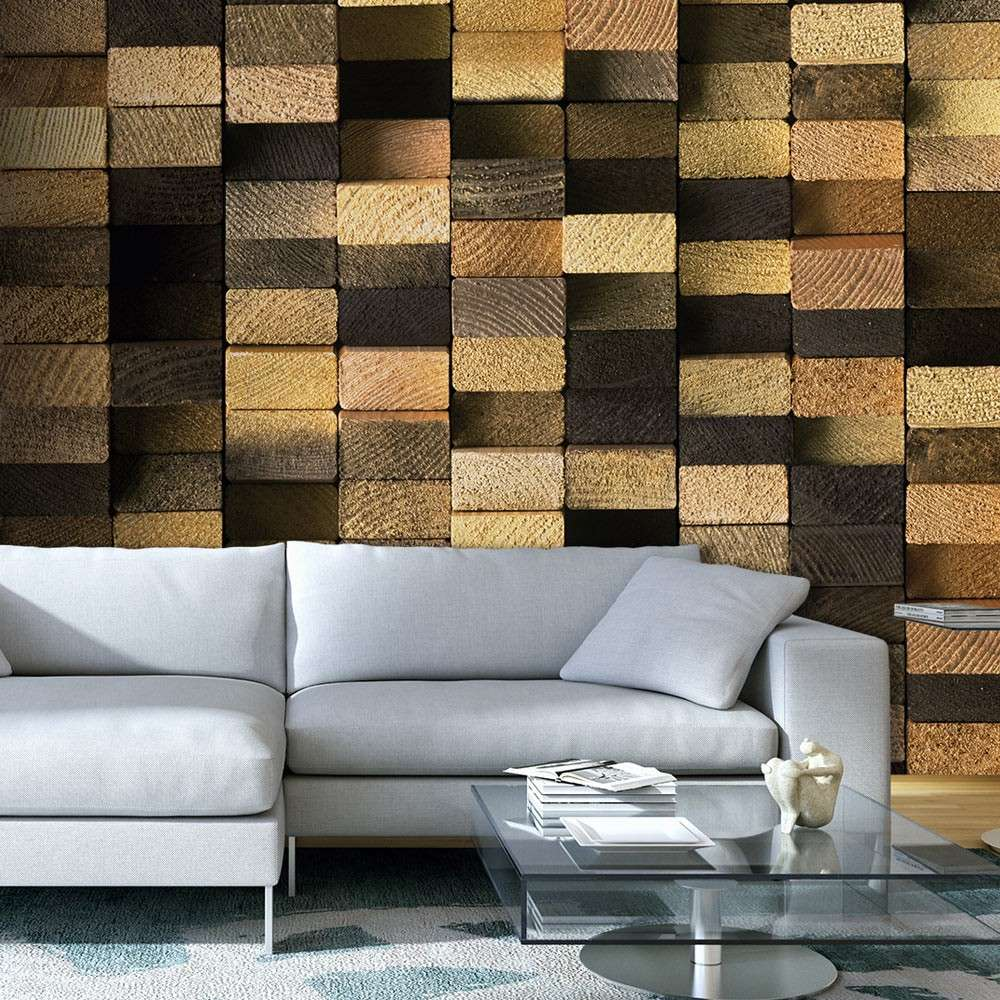 Fototapeta  Chronieni drewnianym splotem