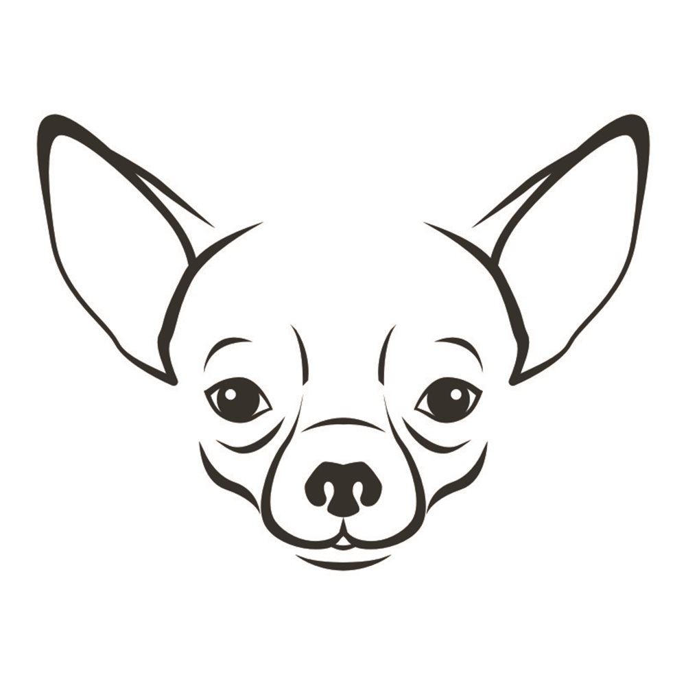 Naklejka dekoracyjna Piesek, Pies, exa156