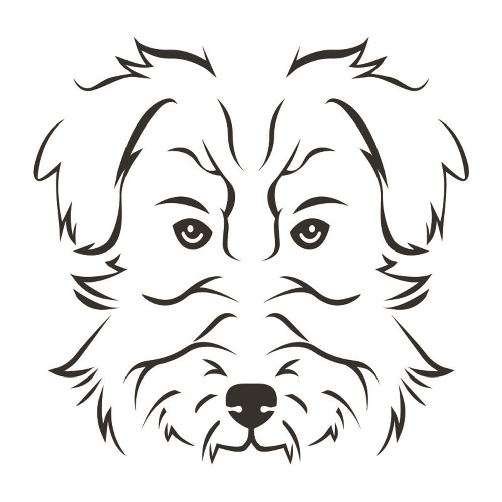 Naklejka dekoracyjna Pies, Piesek, York, exa153