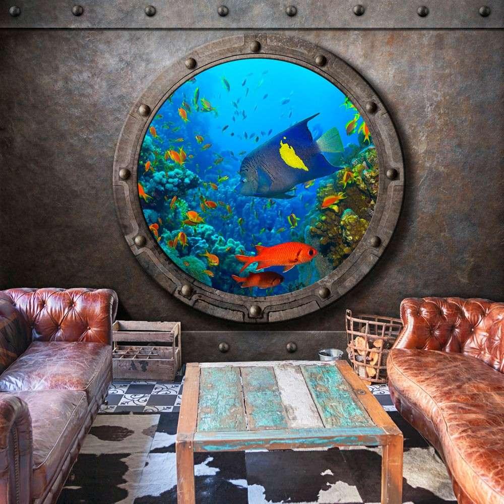 Fototapeta  Okno łodzi podwodnej