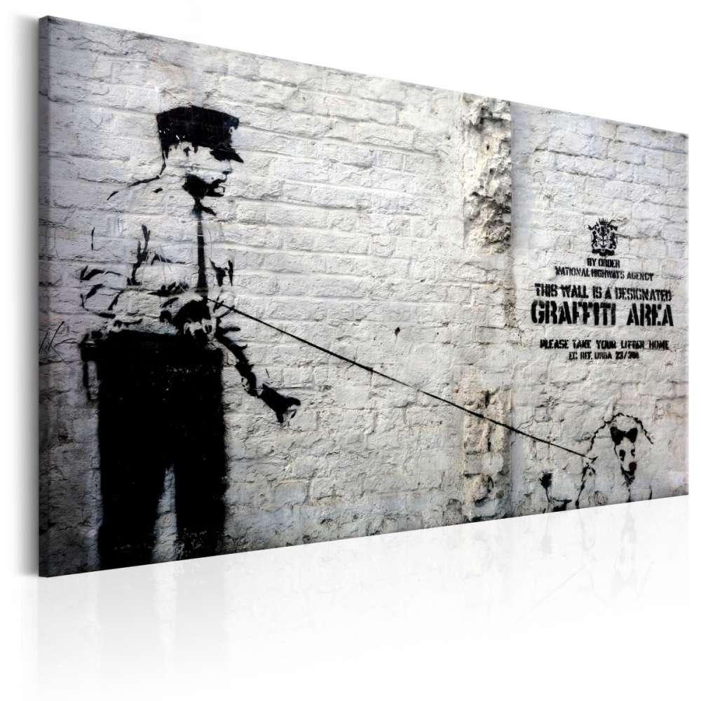 Obraz  Graffiti Area (Police and a Dog) by Banksy
