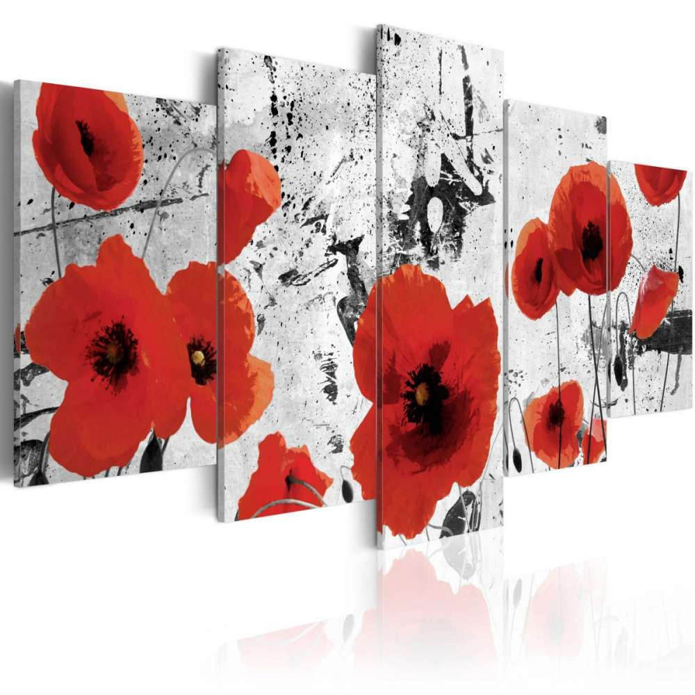 Obraz  Szkarłatne kwiaty