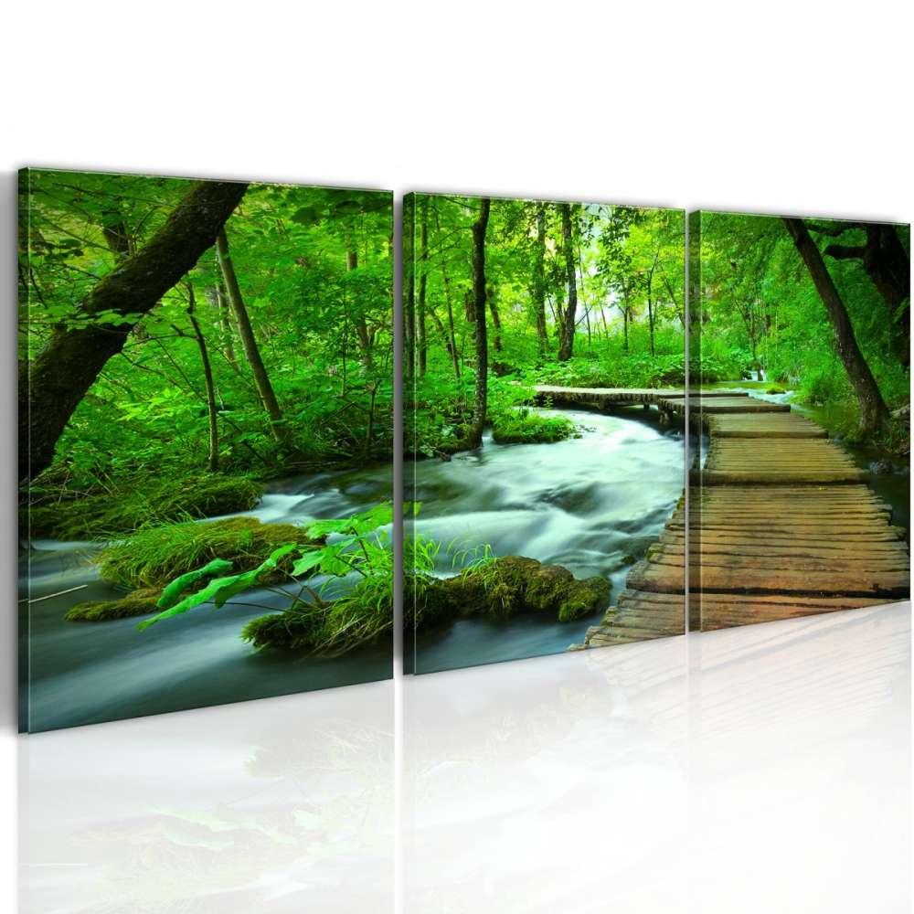 Obraz  Leśny deptak  tryptyk