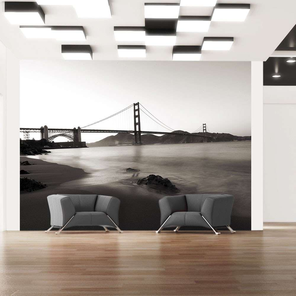 Fototapeta  San Francisco Most Golden Gate w czerni i bieli