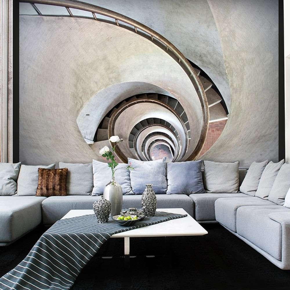 Fototapeta  White spiral stairs