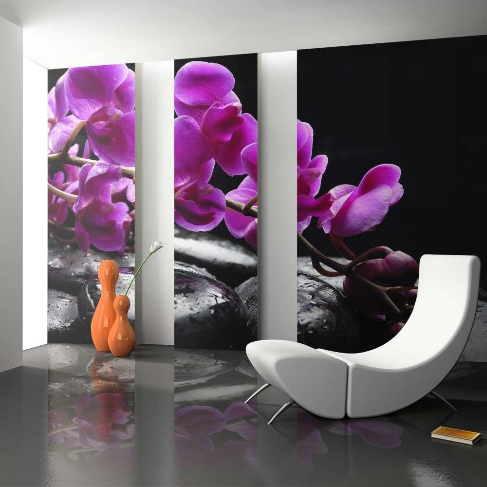 Fototapeta  Chwila relaksu  orchidea i kamienie zen