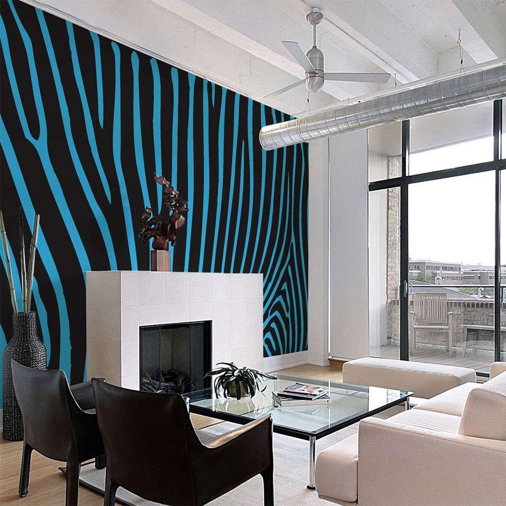 Fototapeta  Zebra pattern (turkus)