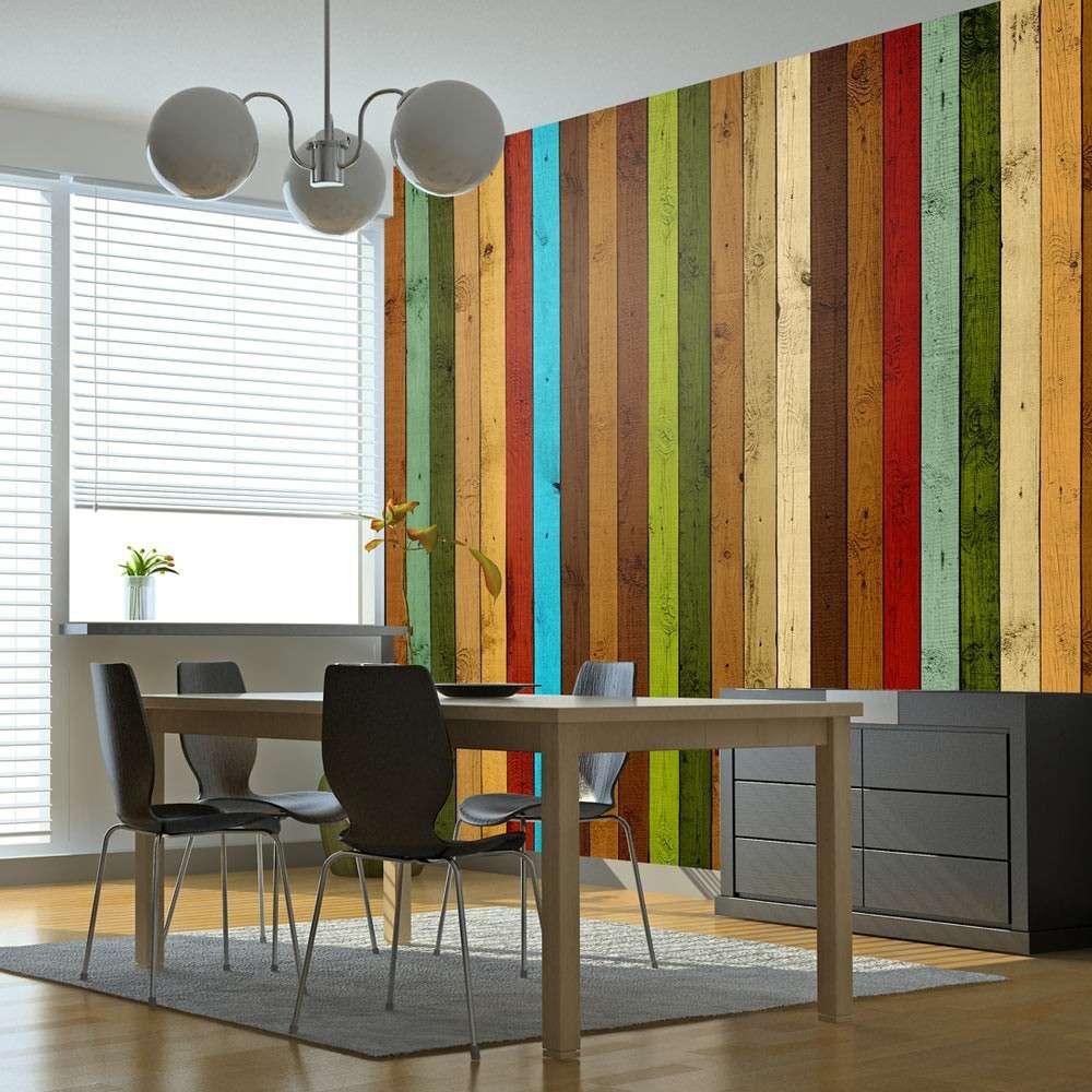Fototapeta  Wooden rainbow