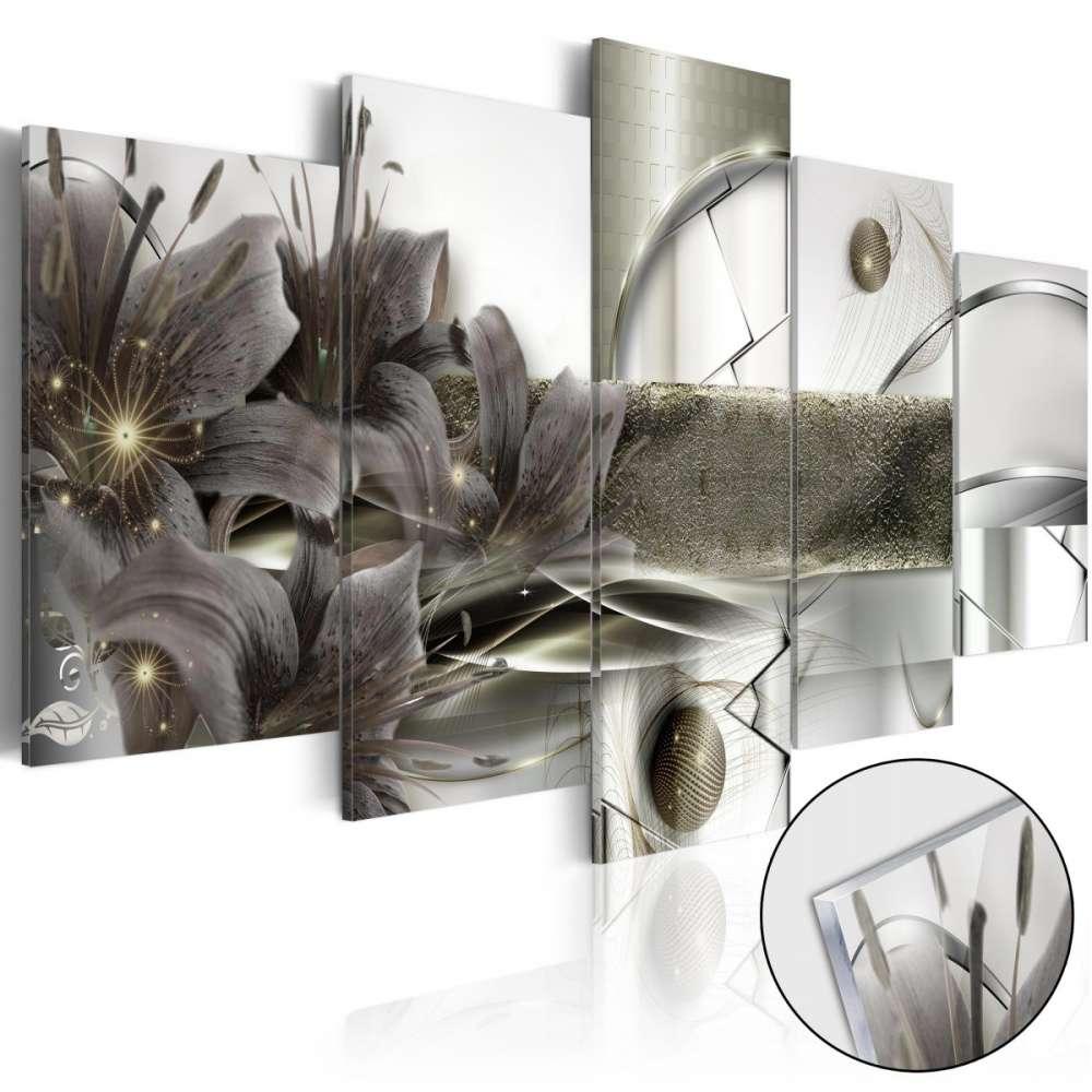 Obraz na szkle akrylowym  Kwiaty kosmosu [Glass]
