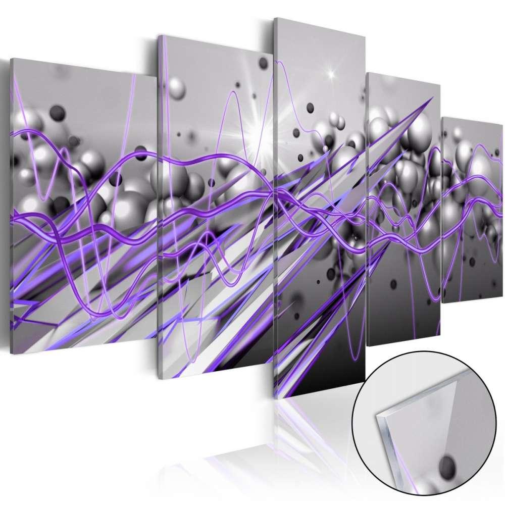 Obraz na szkle akrylowym  Fioletowe uderzenie [Glass]