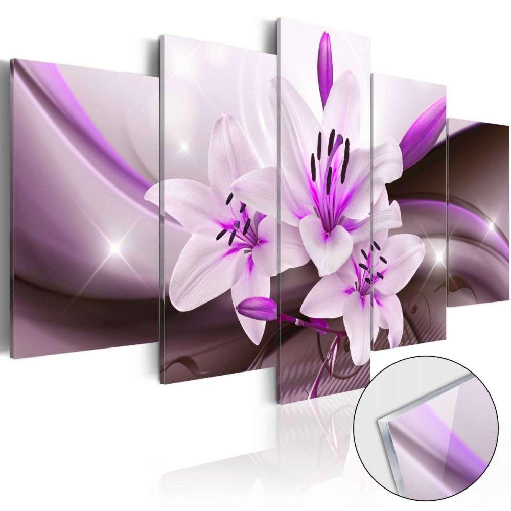 Obraz na szkle akrylowym  Fioletowa lilia pustynna [Glass]
