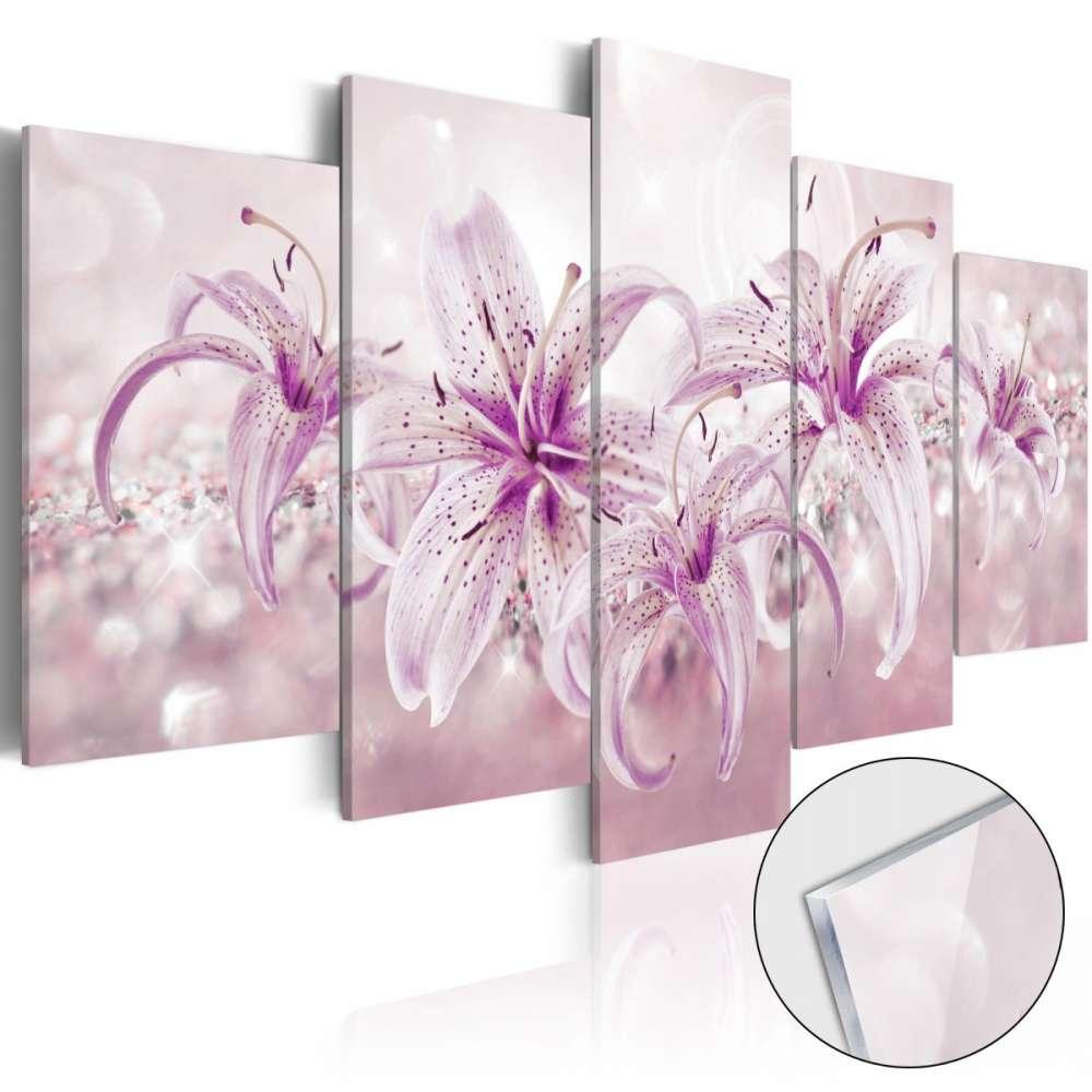 Obraz na szkle akrylowym  Fioletowa harmonia [Glass]
