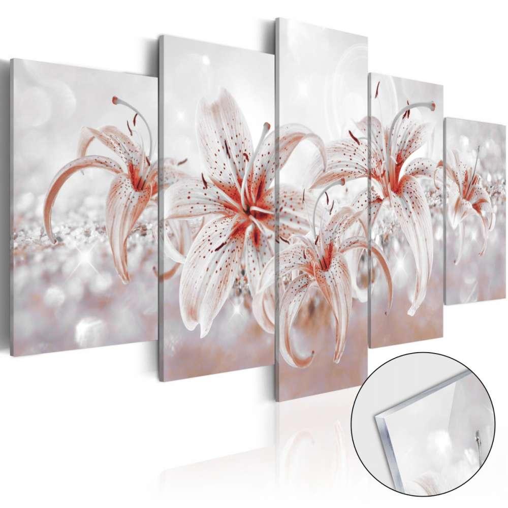 Obraz na szkle akrylowym  Kwiatowa saga [Glass]