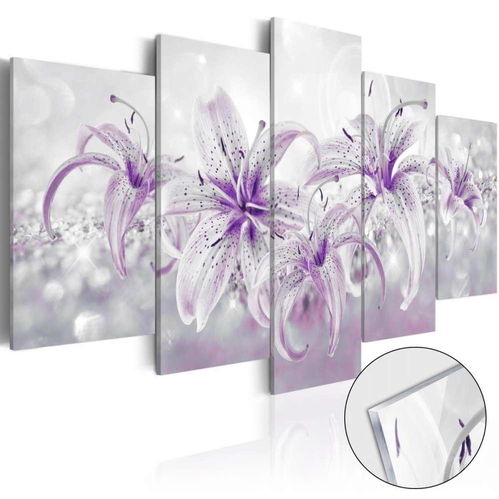 Obraz na szkle akrylowym  Fioletowe gracje [Glass]