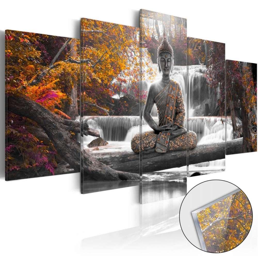 Obraz na szkle akrylowym  Jesienny Budda [Glass]