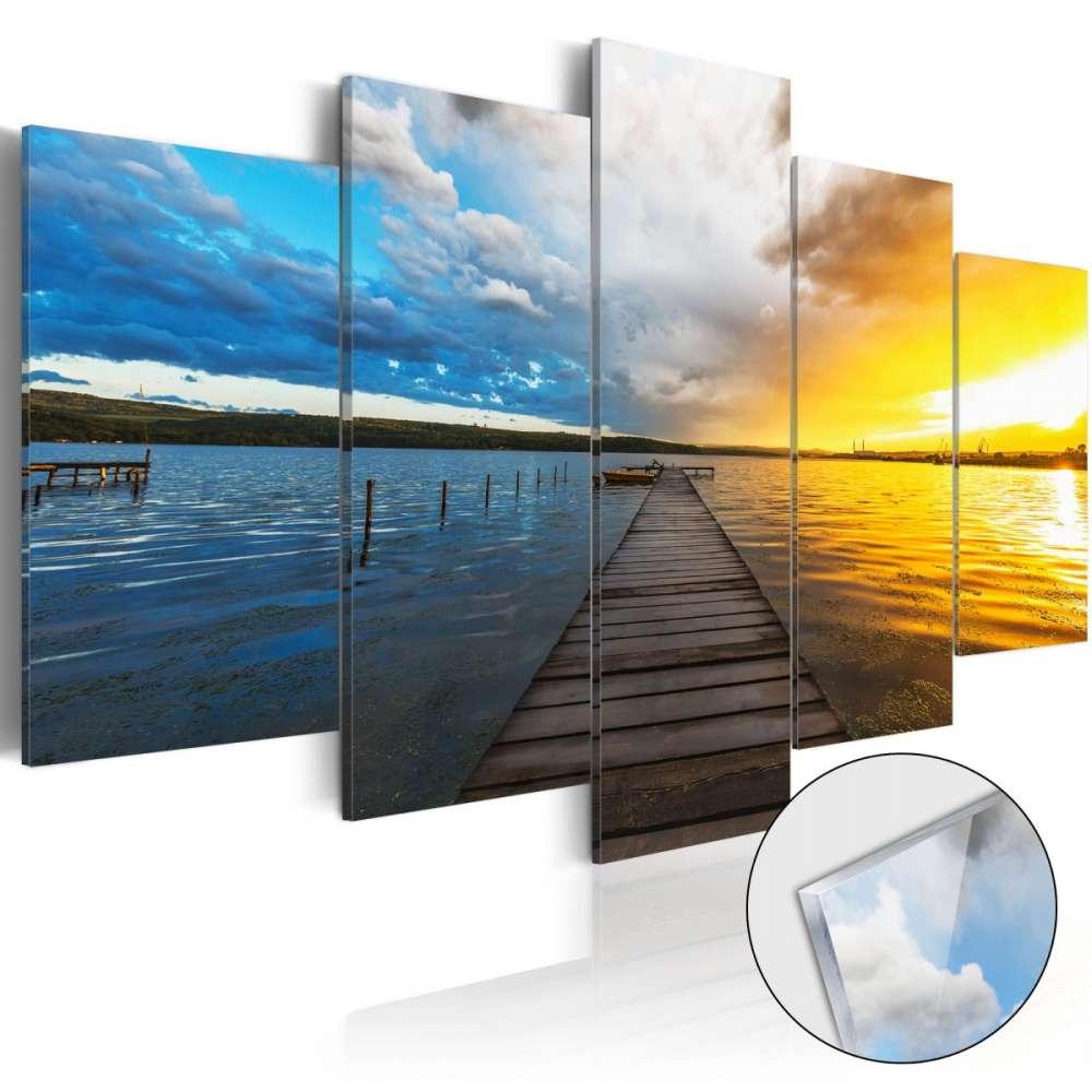 Obraz na szkle akrylowym  Jezioro ze snów [Glass]