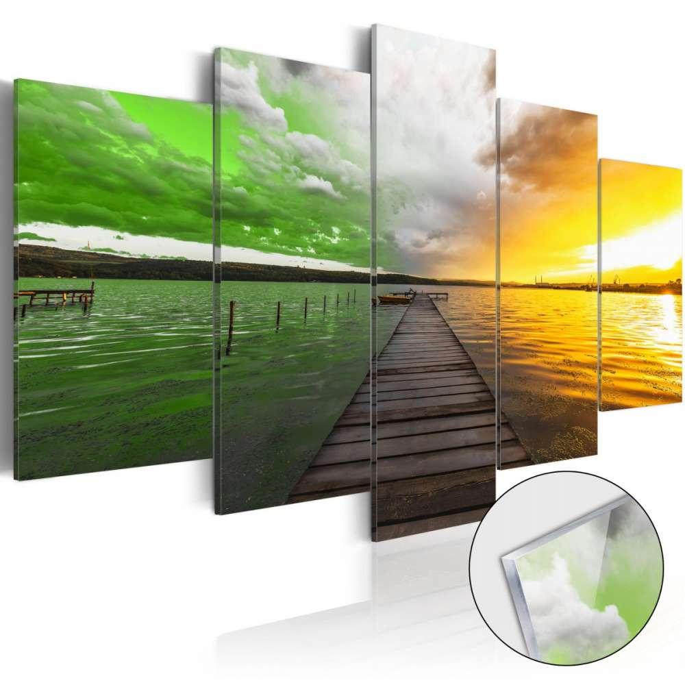 Obraz na szkle akrylowym  Granice lata [Glass]
