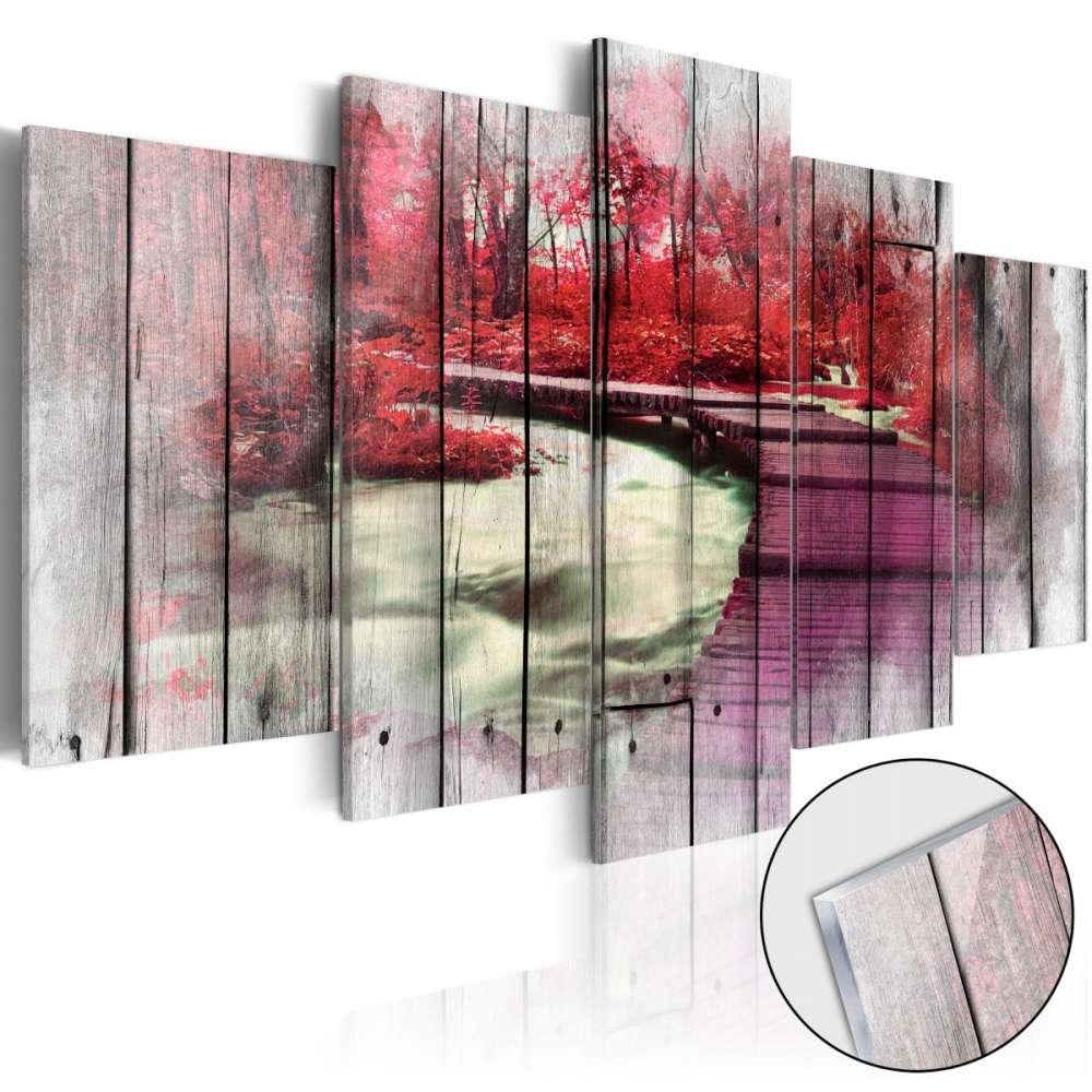 Obraz na szkle akrylowym  Czerwona jesień [Glass]