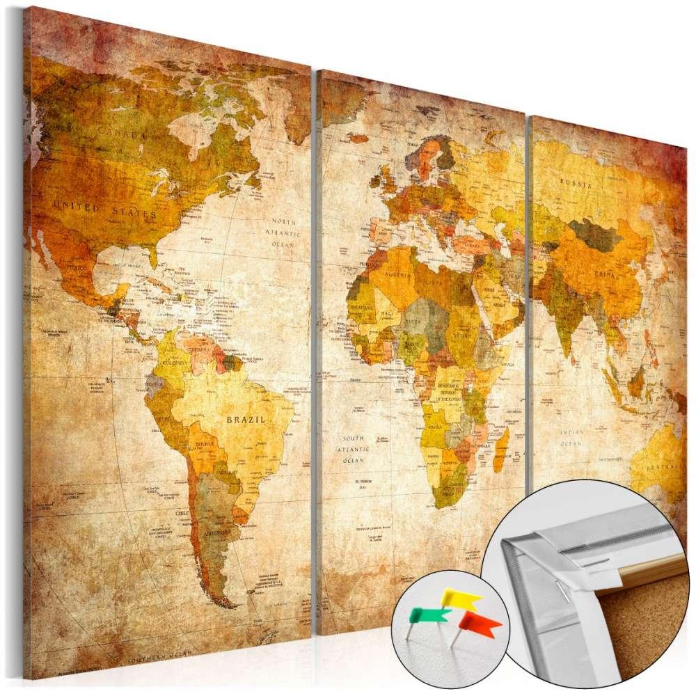 Obraz na korku  Antyczne podróże [Mapa korkowa]
