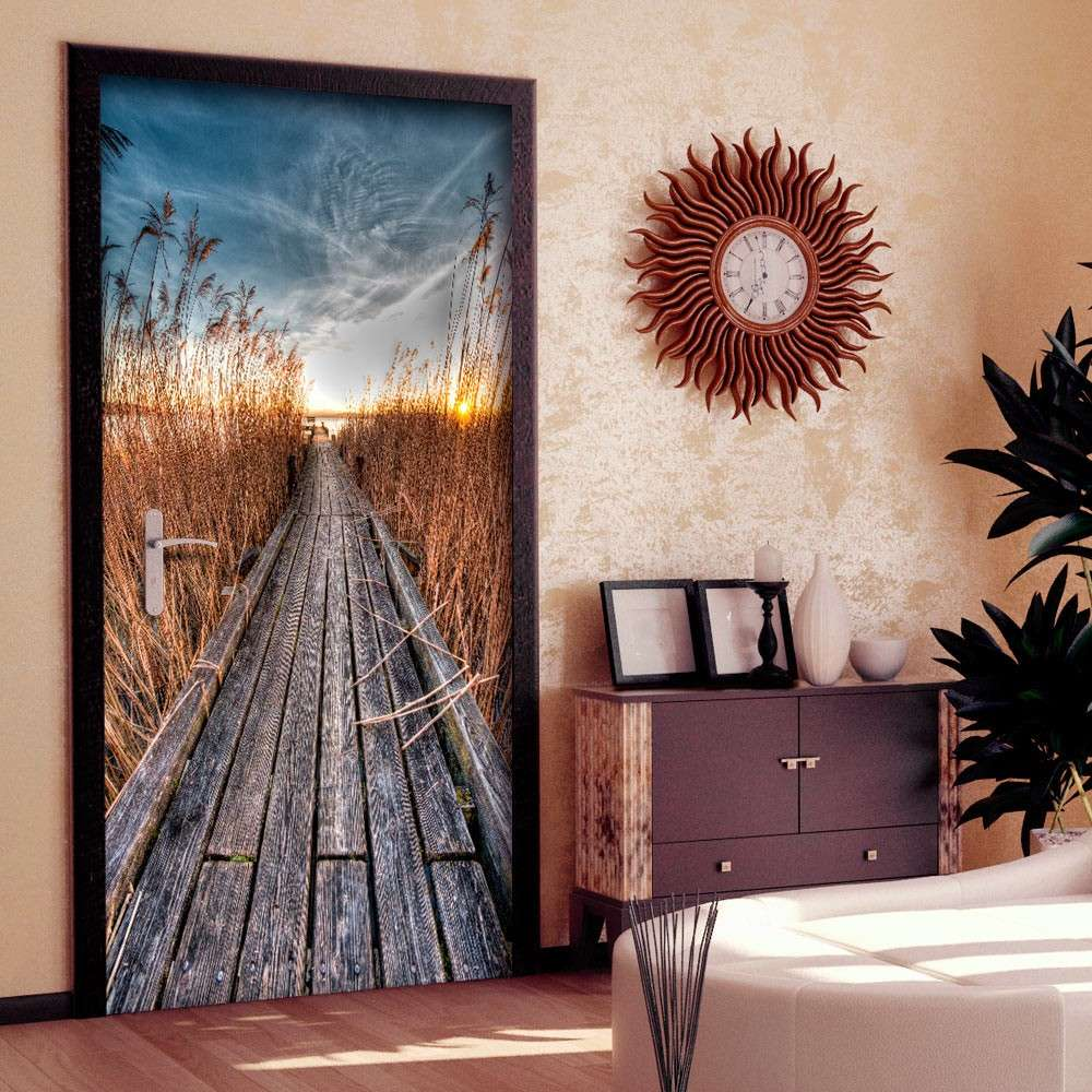 Fototapeta na drzwi  Tapeta na drzwi  Molo na jeziorze