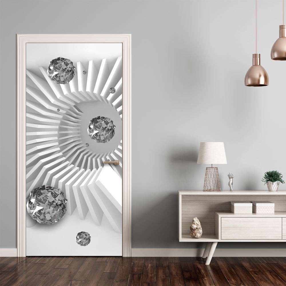Fototapeta na drzwi  Tapeta na drzwi  Czarnobiała abstrakcja