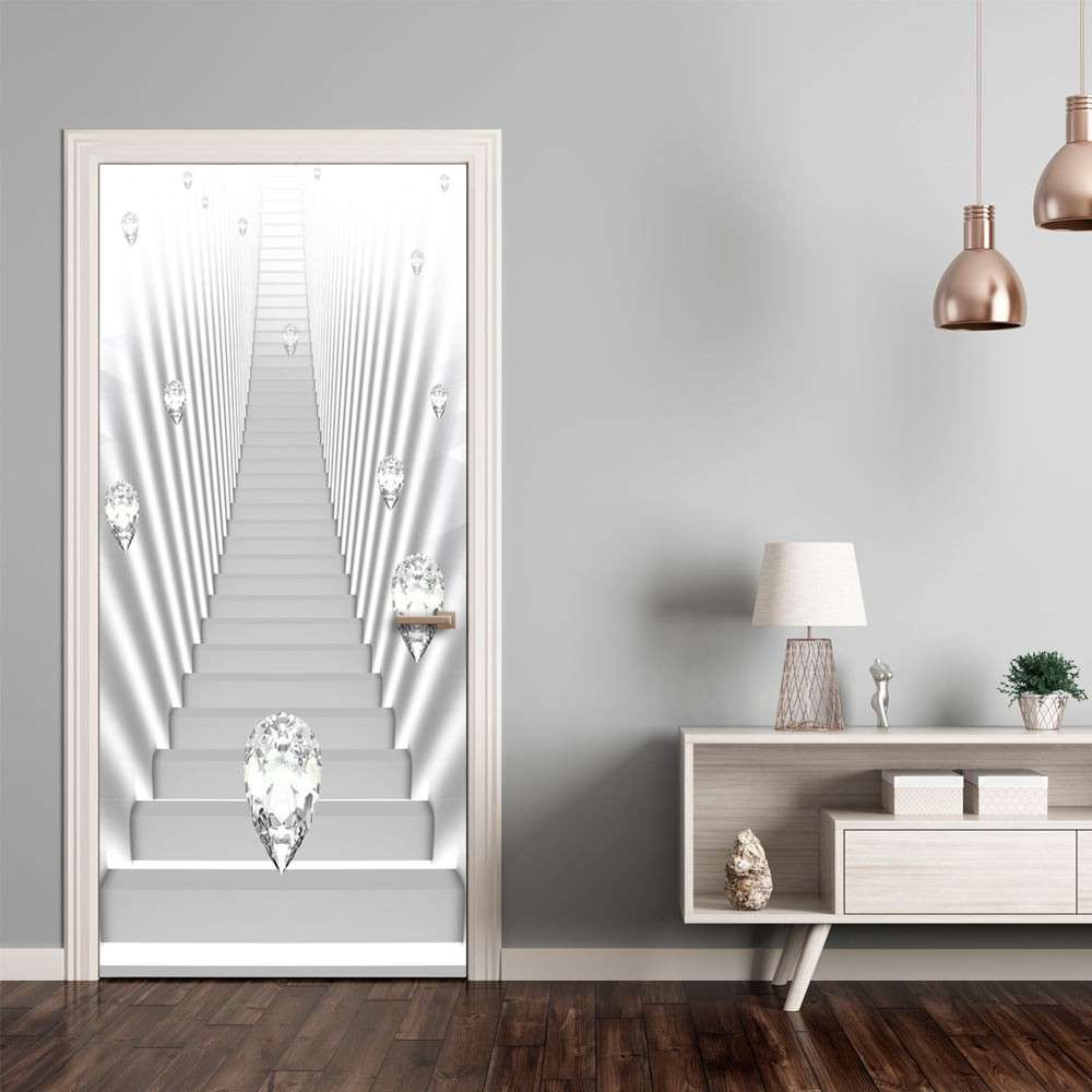 Fototapeta na drzwi  Tapeta na drzwi  Białe schody i klejnoty