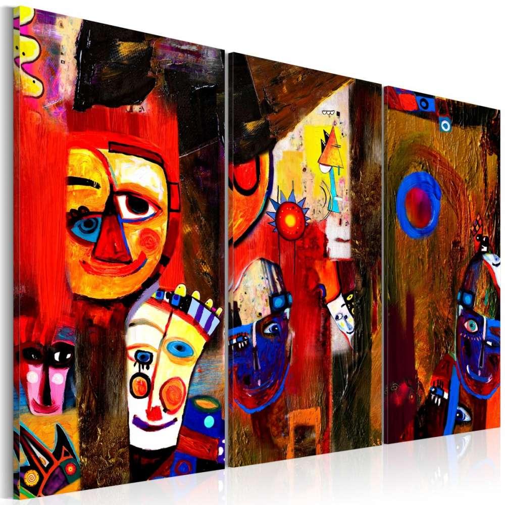 Obraz malowany  Abstrakcyjny karnawał