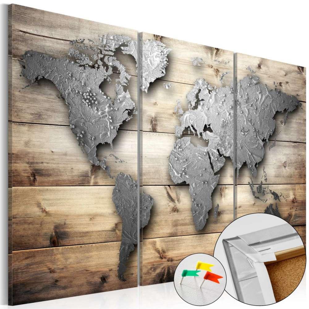 Obraz na korku  Drzwi do świata [Mapa korkowa]