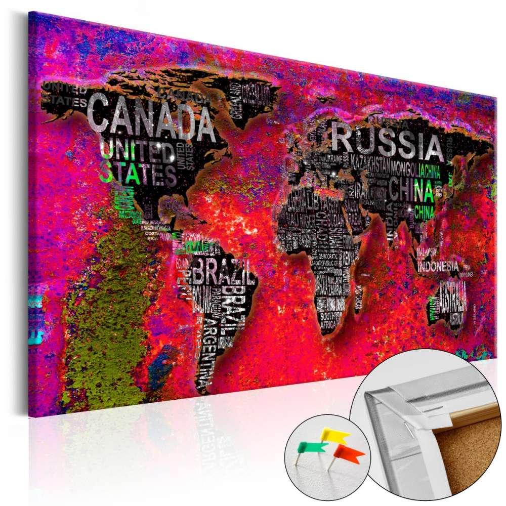 Obraz na korku  Czerwona Ziemia [Mapa korkowa]