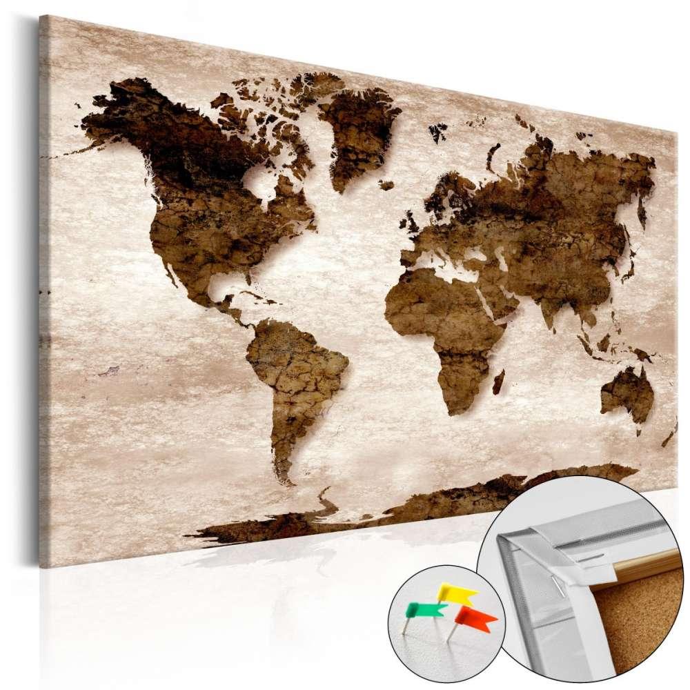 Obraz na korku  Brązowa Ziemia [Mapa korkowa]