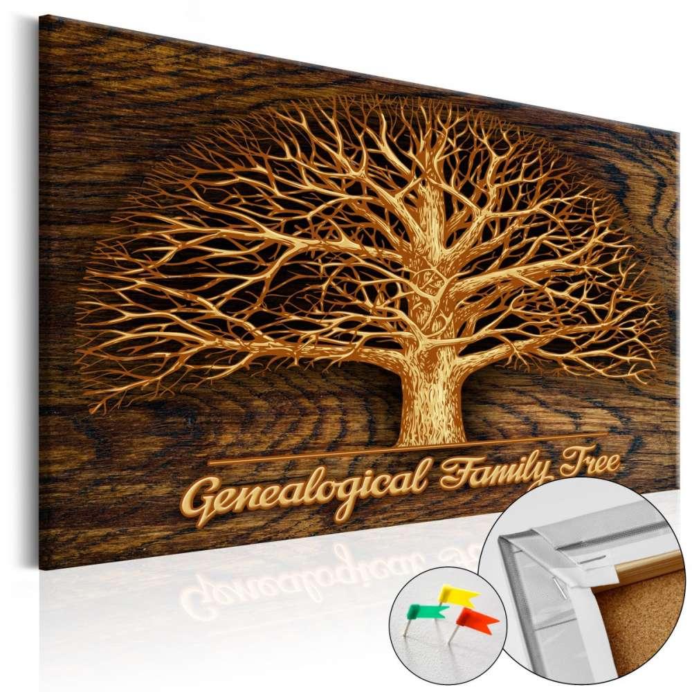 Obraz na korku  Drzewo rodzinne [Tablica korkowa]