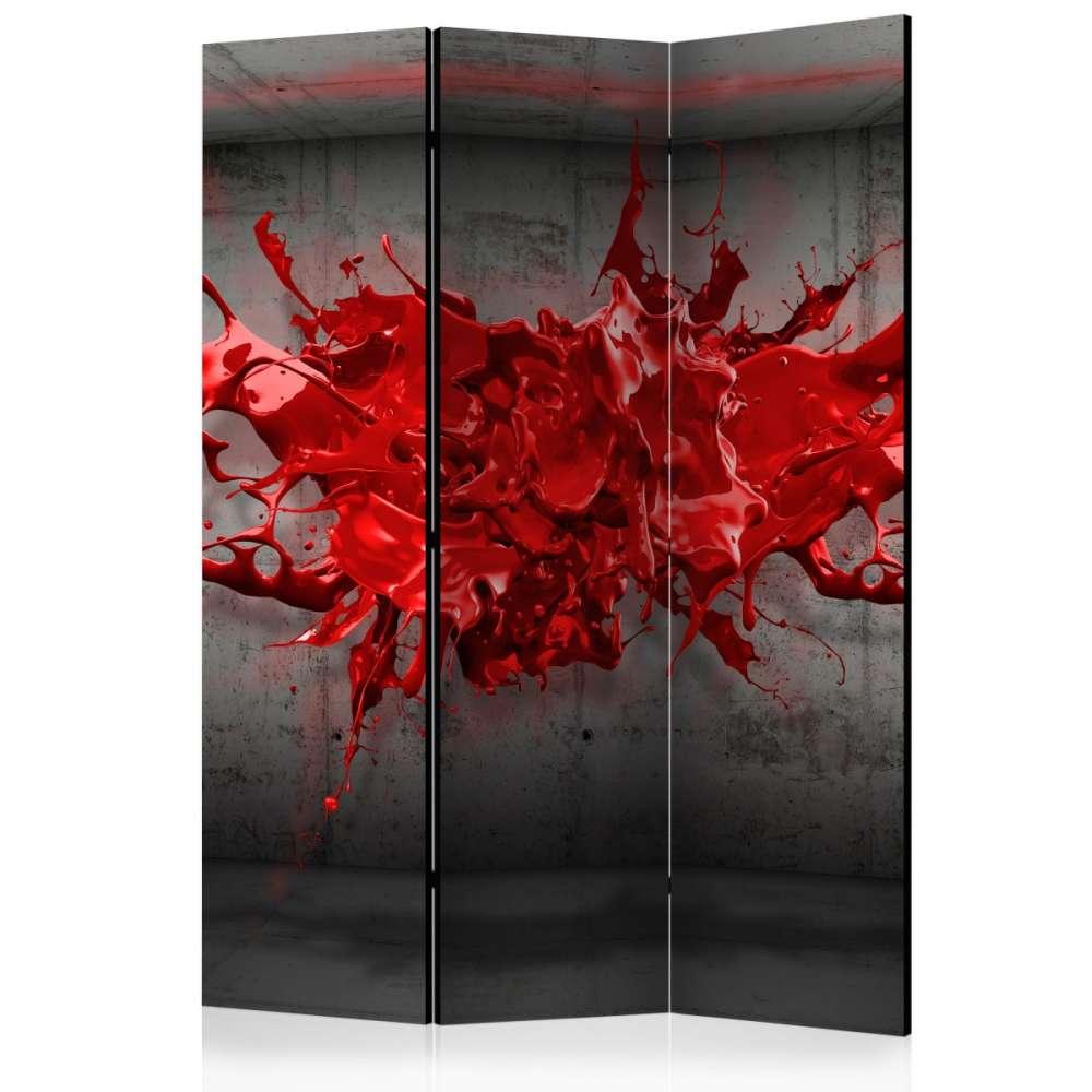 Parawan 3częściowy  Czerwony kleks [Room Dividers]