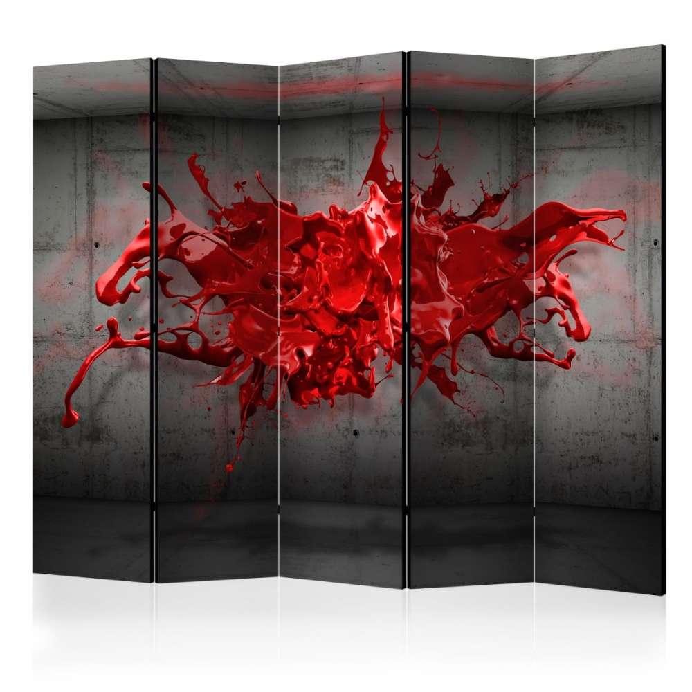 Parawan 5częściowy  Czerwony kleks II [Room Dividers]