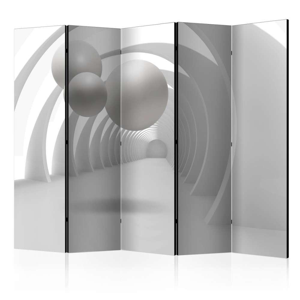 Parawan 5częściowy  Biały tunel II [Room Dividers]
