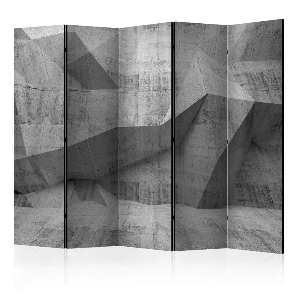 Parawan 5częściowy  Betonowa geometria II [Room Dividers]