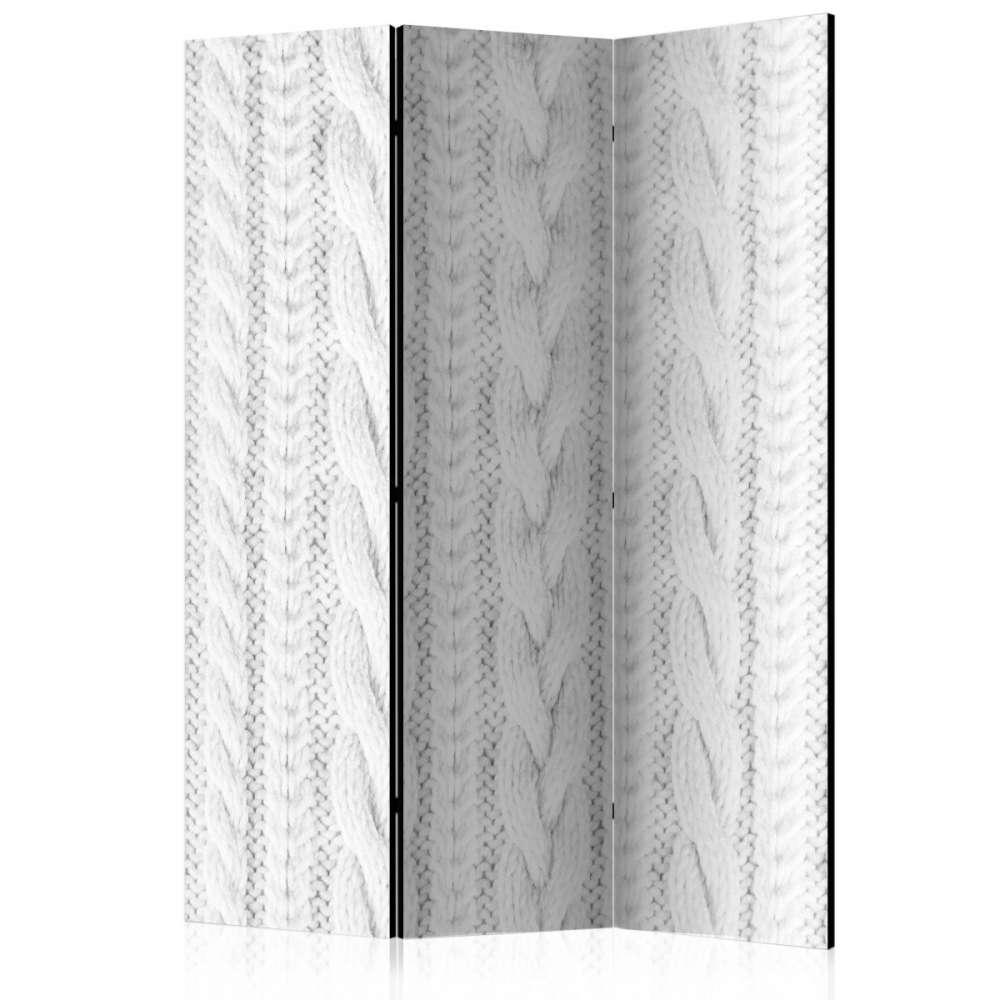 Parawan 3częściowy  Biały splot [Room Dividers]