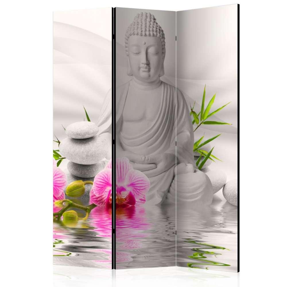 Parawan 3częściowy  Budda i orchidee [Room Dividers]