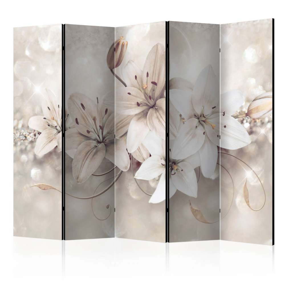 Parawan 5częściowy  Diamentowe lilie II [Room Dividers]