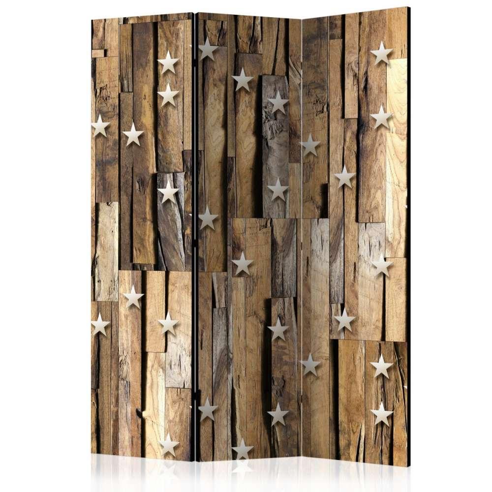 Parawan 3częściowy  Drewniany gwiazdozbiór [Room Dividers]
