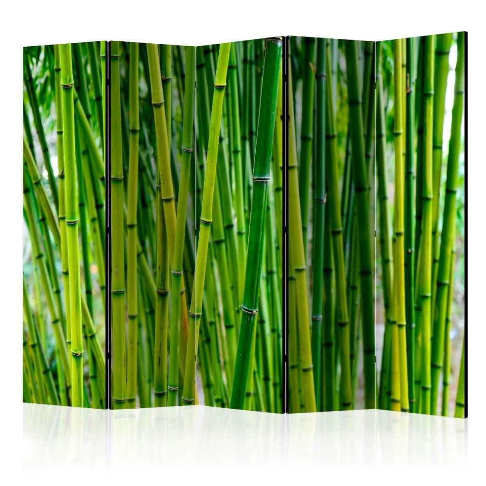 Parawan 5częściowy  Bambusowy las II [Room Dividers]
