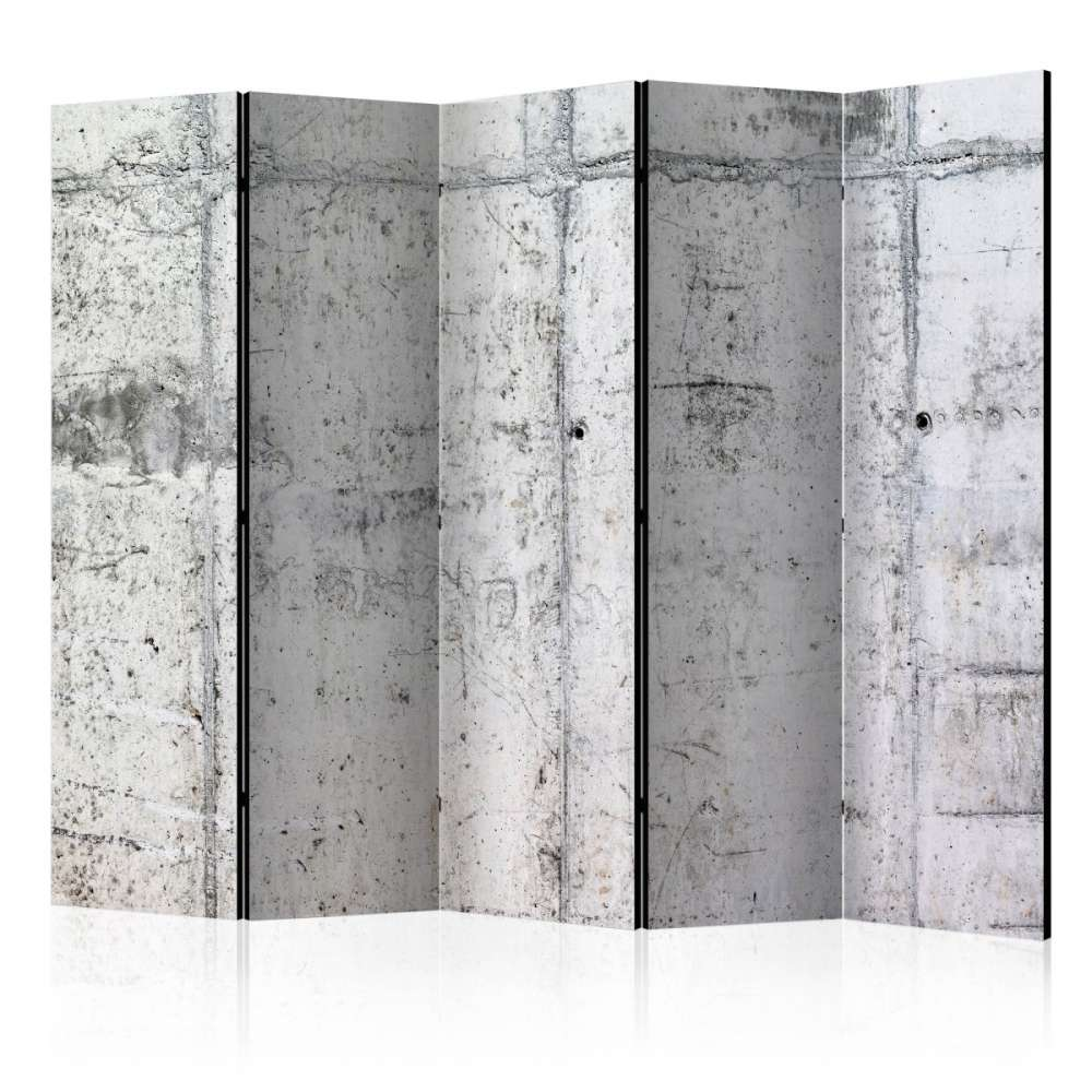 Parawan 5częściowy  Betonowa ściana II [Room Dividers]