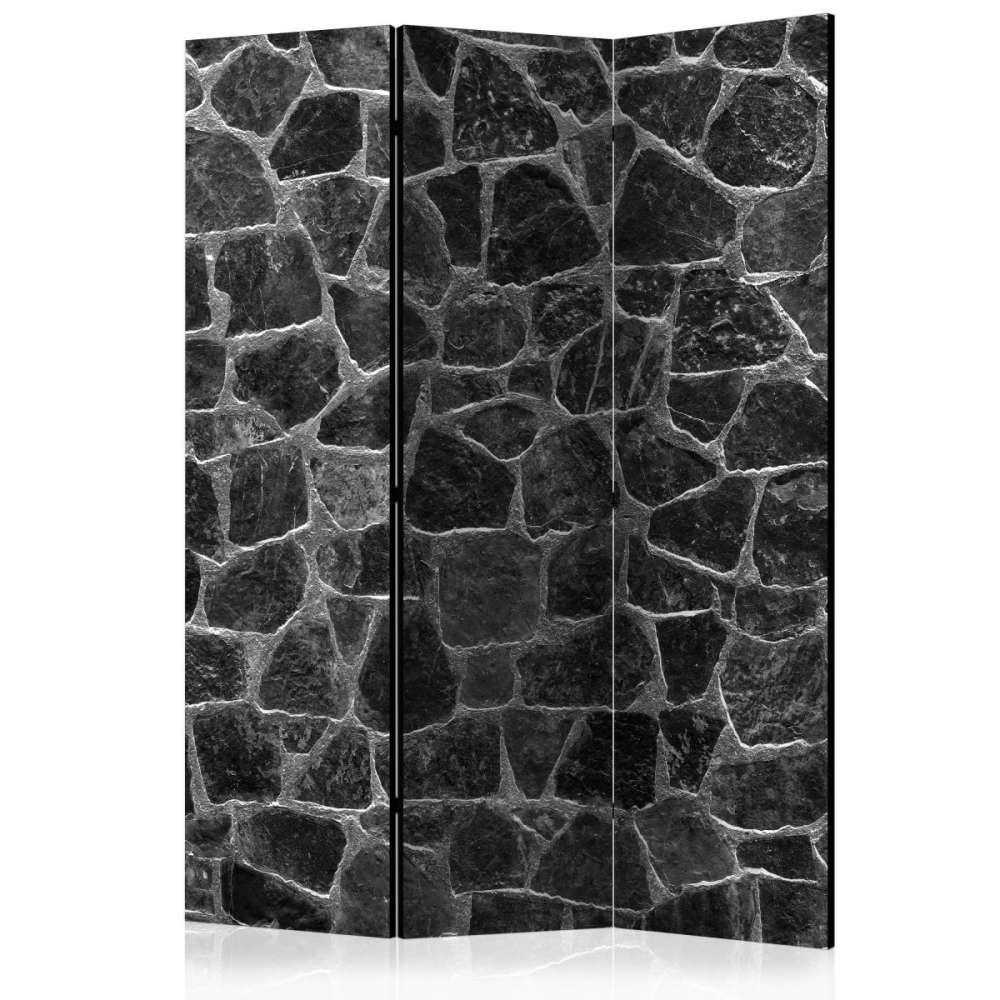 Parawan 3częściowy  Czarne kamienie [Room Dividers]