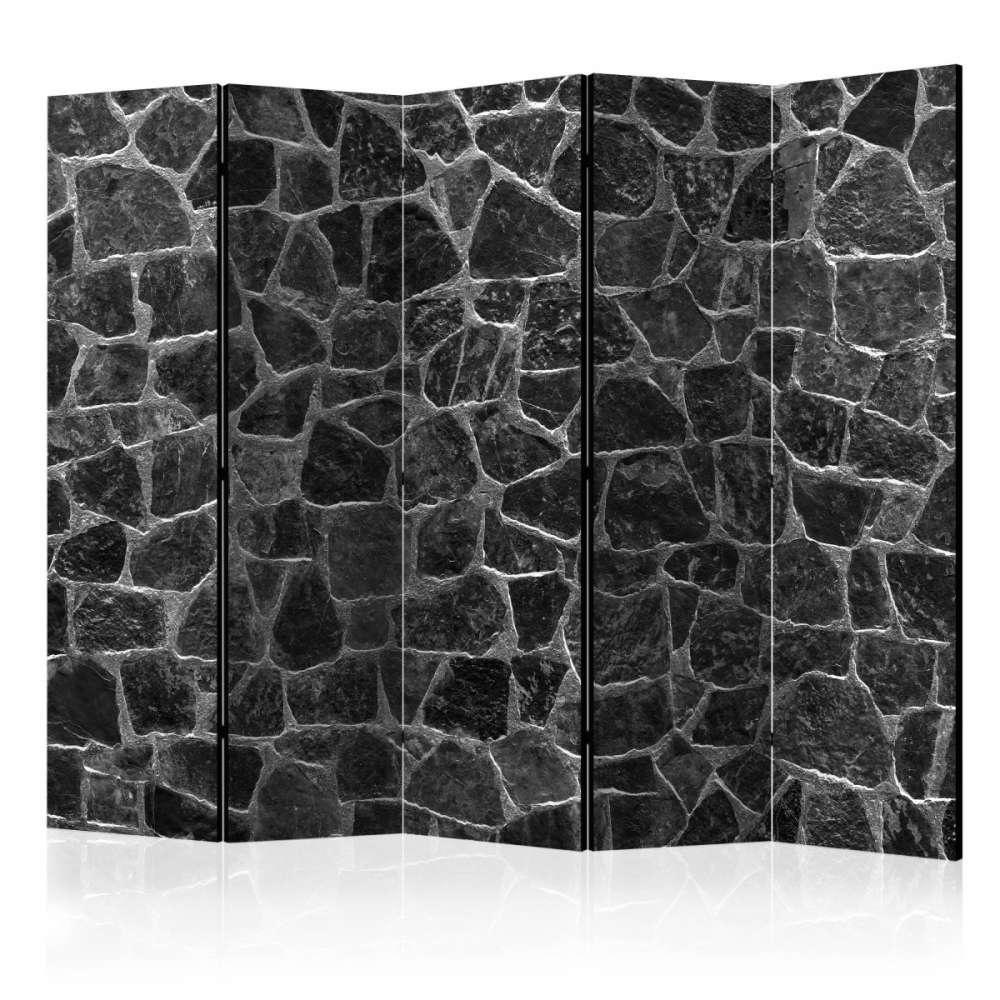 Parawan 5częściowy  Czarne kamienie II [Room Dividers]