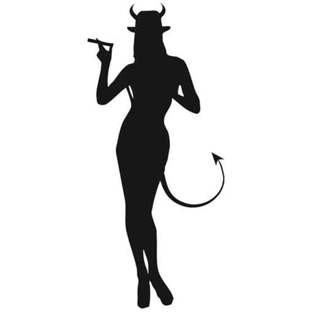 Szablon malarski B 10 kobieta, postać, diabeł, diabełek, anioł, aniołek, B10