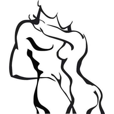 Szablon malarski B 15 dekormania erotyczny erotyka kobieta mężczyzna sypialnia, B15