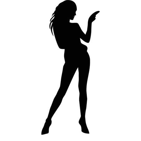 Szablon malarski B 5, B5, kobieta, postać
