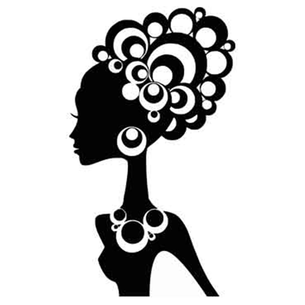 Szablon malarski PX 131, kobieta, postać, kółka, afryka, PX131