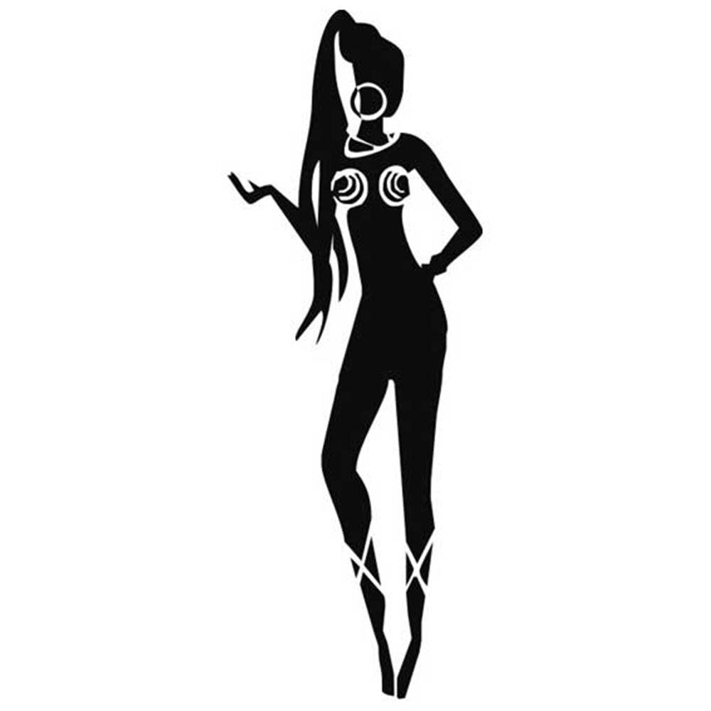 Szablon malarski PX 191 kobieta postać kółka afryka, PX191
