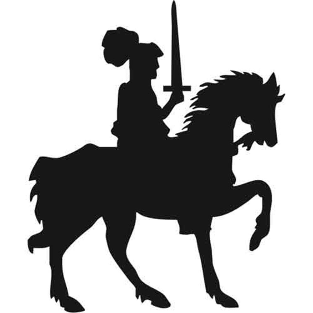 Szablon malarski PX 198 rycerz na koniu postać, PX198